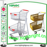 American Style Convenient Store Shopping Cart with Two Tiers