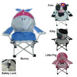 Cartoon Printing Fabric Kids Chair with Safety Locker
