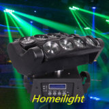 6PCS 8 Eyes RGBW 4 In1 LED Spider Moving Head Beam Light for Disco Stage Nightclub Show