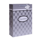 Silver Stamping Simple Wedding Gift Bags