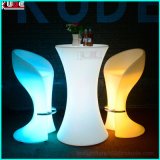 Color Changing Waterproof LED Light Highboy Glass Tables