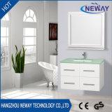 Modern White Wall PVC Curved Bathroom Vanity