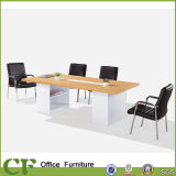 Practical Melamine Office Conference Room Table with Open Shelves