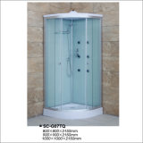 5mm Acid Glass Dobule Profile, Double Rollers, Chrome Profile, Steam Shower Cabin with Tray