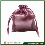 Good Quality Purple Drawstring Satin Gift Pouch for Jewelry