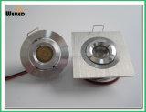 Square Adjustable LED Mini Downlight 3W for Cabinet Lighting