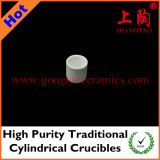 High Purity Traditional Cylindrical Crucibles