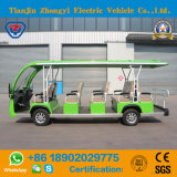 Factory Direct Sales of 14 Seats Green Electric Sightseeing Car