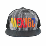 Best Selling Flat Caps Snapback Hat with Sublimation Printing Embroidery