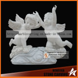 Angel Baby Flying Marble Statues Nss031