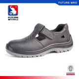 Genuine Leather Summer Safety Shoes with Steel Toe