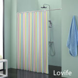 Shower Curtain Bathroom Waterproof Curtain (JG-241)