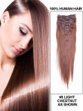 20 Inches 100% Peruvian Virgin Remy Hair Silky Straight Clip in Human Hair Extension