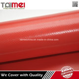 Red Color Waterproof PVC Coated Fabric for Truck Cover