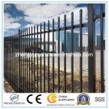 Black Powder Coated Tubular Wrought Iron Fence/Garden Fence