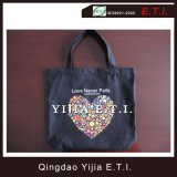Black Color 8oz Cotton Canvas Shopper Bag
