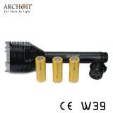Three CREE Xm-L T6 (Max 3000 lumens) Dive Torch W39
