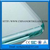 New C Pencil Shape Shinny Polished Edage Toughened Glass