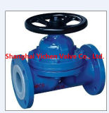 Lined PTFE Weir Type Diaphragm Valve (G41F)
