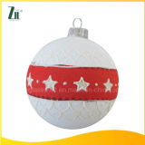 2016 Christmas Glass Ornament Ball with Star