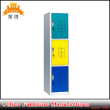 3 Tier Colorful Changing Room Hanging Steel Clothes Storage Locker