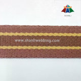 1.25 Inch Yellow and Brown Polyester Cotton Webbing