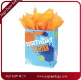 Fancy Gift Paper Bags with Printing and Glitter High Quality Paper Bags, Birthday Gift Bag