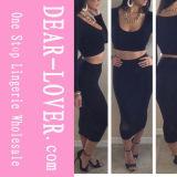 2016 Fashions Black Two Piece Bodycon Skirt