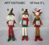 Christmas Home Decoration Gift Santa Snowman Treat Container, 3assorted