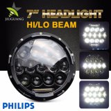 Waterproof 75W 7 Inch DRL 12V Offroad DRL Halo Round Car LED Headlight for Jeep Wranlger Tj Jk Hummer