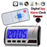 Low Cost Multinfunction Electronic Clock Hidden Surveillance Camera with Motion Detection