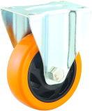 3/4/5 Inch Medium Duty Orange PVC Fixed Castor Wheels