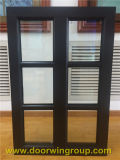 Dark Brown Aluminum Teak Wood Windows