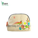 Cosmetic Bag with Embroideried Folowers (YSCB00-0006)