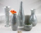 Wedding Gift Glass Crafts White Mosaic Glass Centerpiece Glass Vase