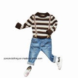 Boys′ Knitted Pullover Striped Sweater