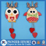 Wooden Owl Design for Christmas Hanging Ornament Decoration