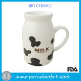 Hand Made Cow Decoration Ceramic Milk Cup