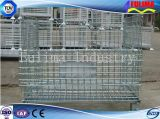 Metal Folding Storage Wire Mesh Cage Container Basket (FLM-K-012)