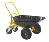 100L&7cbf&220kgs Capacity Four Wheeled Dump Wheel Barrow with Brake
