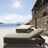 2017 Hotel Swimming Pool Furniture Rattan Sun Bed T519