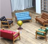 Single Person Sofa Fashion Contracted Solid Wood Children PU Leather Sofa (M-X3379)
