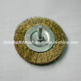 """3"""" Steel Wire Wheel Brush with Shaft (YY-058)"""