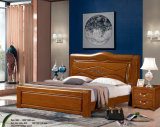 Hotel Bed, China Bedroom Furniture, Wooden Bed (9086)