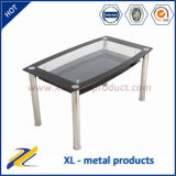 Cheap Contemporary Glass and Stainless Steel Dining Table