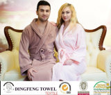 New Fashion 100% Cotton High Quality Super Soft Velvet Bathrobe Df-8850