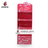 3 Layers Corrugated Paper Cardboard Floor Display for Advertising