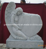Marble Angel Tomestone with Top Quality Carving