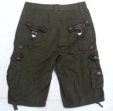 Men Garment Dyed Short Pants-002