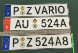 German License Plate, Advertise License Plate, License Plate